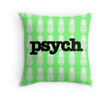 Psych Pineapples Throw Pillow