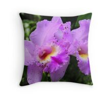 Light Purple Spotted Orchids (cattleya) * Throw Pillow