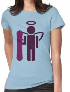 snowboard : board angel  Womens Fitted T-Shirt