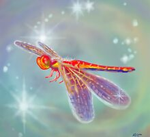 Glowing Dragonfly by Audra Lemke