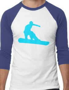 snowboard silhouettes Men's Baseball ¾ T-Shirt