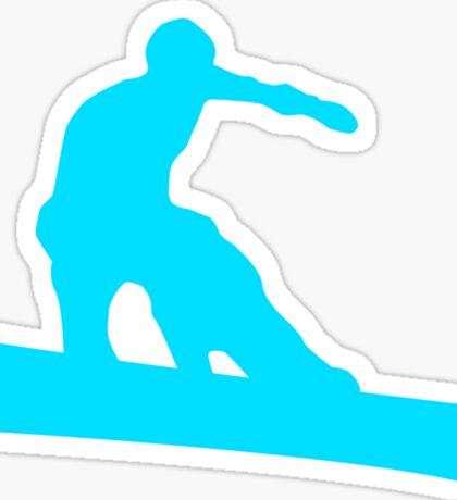 snowboard silhouettes Sticker
