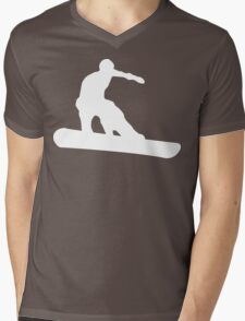 snowboard : silhouettes Mens V-Neck T-Shirt