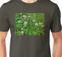 Star Of Bethlehem Wildflowers - Ornithogalum umbellatum - Grass Lily Unisex T-Shirt