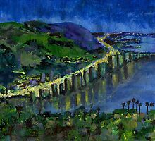 Laguna Shores at Night by Randy Sprout