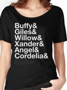 BUFFY THE VAMPIRE SLAYER AND SCOOBY GANG Women's Relaxed Fit T-Shirt