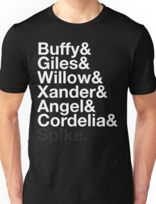 BUFFY THE VAMPIRE SLAYER AND SCOOBY GANG Unisex T-Shirt
