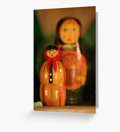 big sister is watching you Greeting Card