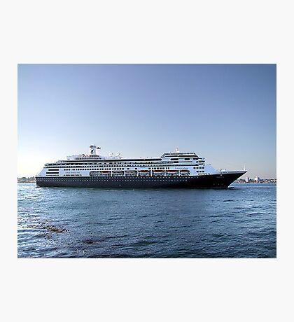 Amsterdam, Cruise Liner Photographic Print