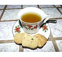 Cookies and Tea Photographic Print