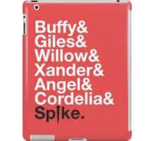 BUFFY THE VAMPIRE SLAYER AND SCOOBY GANG iPad Case/Skin