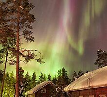 Solar Storm Over Rovaniemi by Kristin Repsher