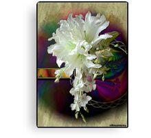 White Satin Blossoms Canvas Print