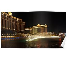Bellagio fountains Poster
