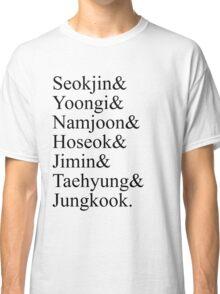 BTS Bangtan Boys Member Birth Names Classic T-Shirt