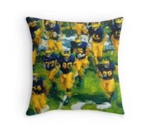 Charge the Fifty Yard Line. Throw Pillow