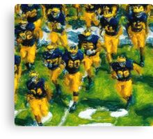Charge the Fifty Yard Line. Canvas Print