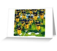 Charge the Fifty Yard Line. Greeting Card