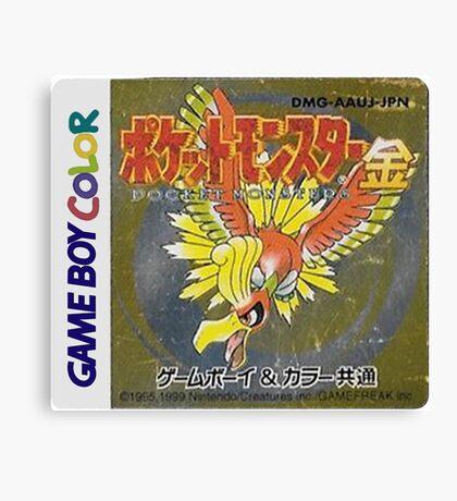 Pokemon Gold  Canvas Print