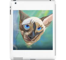 Siamese cat done in sketch club iPad Case/Skin