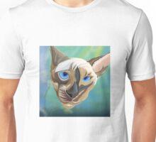 Siamese cat done in sketch club Unisex T-Shirt