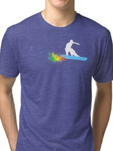 snowboard : powder trail Tri-blend T-Shirt