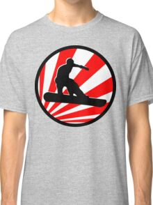 snowboard : red rays Classic T-Shirt