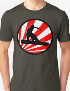 snowboard : red rays T-Shirt