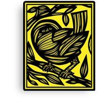 Zech Bird Yellow Black Canvas Print