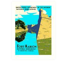 St. Augustine Florida - Historic Castillo de San Marcos Art Print