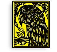 Bochek Parrot Yellow Black Canvas Print