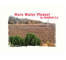 More water please for Mannum, S.A. Art Print