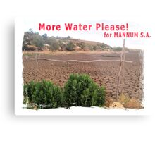 More water please for Mannum, S.A. Metal Print