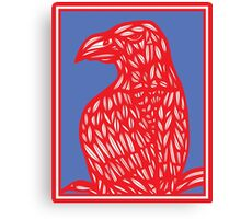 Sneathen Eagle Hawk Red Blue Canvas Print