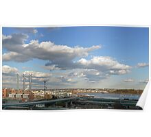 The New IWay Bridge in Providence, Rhode Island Poster
