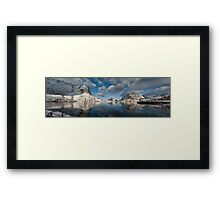Breaking the Ice in Reine Framed Print