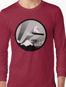 snowboard : powder trail Long Sleeve T-Shirt
