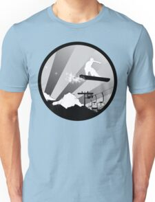 snowboard : powder trail Unisex T-Shirt
