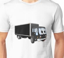 Large Black Delivery Truck Cartoon Unisex T-Shirt