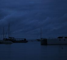 After Dark on Quindalup Moorings by Adrian Kent