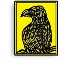 Szatkowski Eagle Hawk Yellow Black Canvas Print