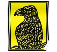 Szatkowski Eagle Hawk Yellow Black Poster