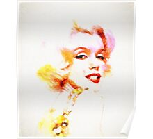 Marilyn The Pink Sketch Poster