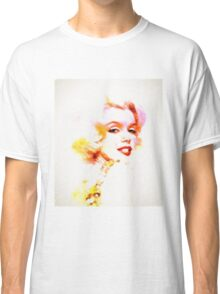 Marilyn The Pink Sketch Classic T-Shirt