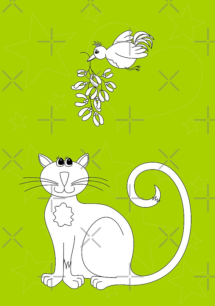 Love at Christmas to colour in by georgiegirl