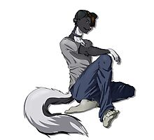 Casual Skunk Man Photographic Print