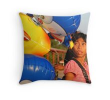 Colours by The Mekong Throw Pillow