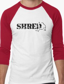snowboard : shred Men's Baseball ¾ T-Shirt