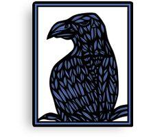 Yaw Eagle Hawk Blue Black Canvas Print