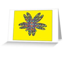 Double Flowers Greeting Card